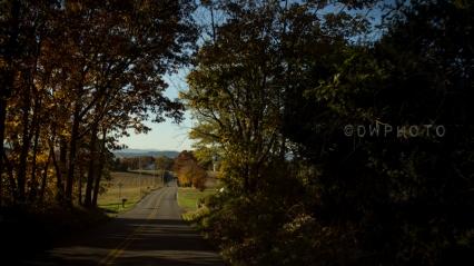 Une route de campagne, Virginie.